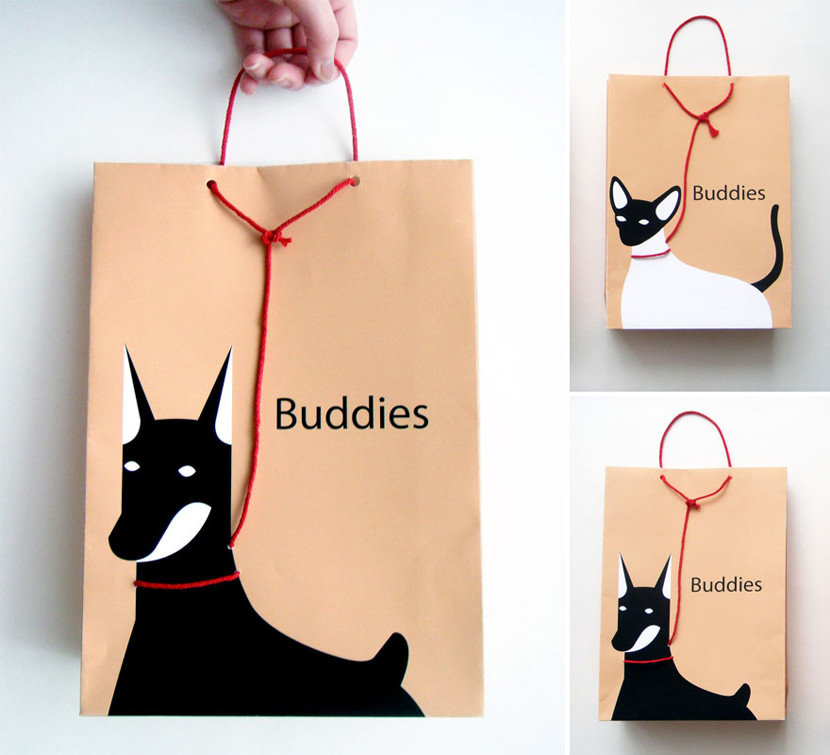 Buddies: Pet On A Leash Shopping Bag