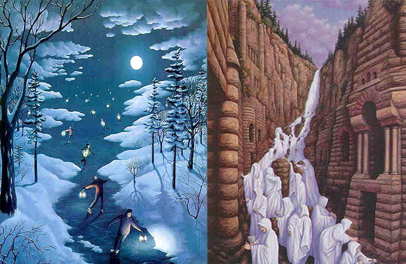 Seamless Optical Illusion Pictures, Paintings and Art Painting Optical Illusion