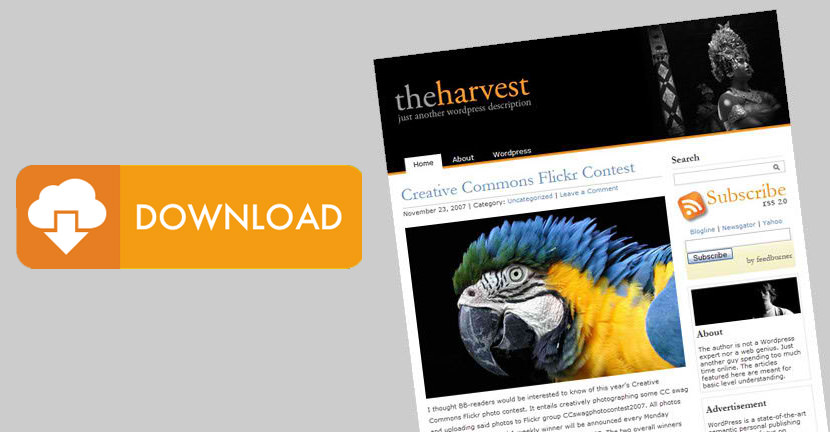 The Harvest - Two Column WordPress Theme