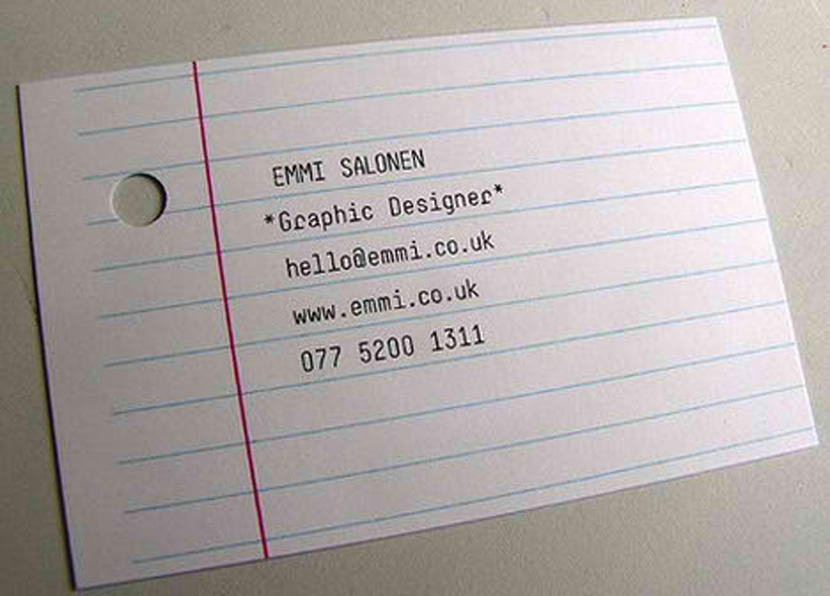9 creative business cards design and ideas