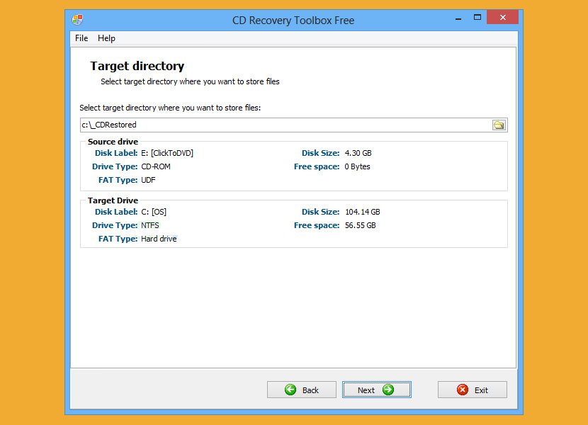 CD Recovery Toolbox (download) tool was developed for recovering damaged files from different disk types: CD, DVD,HD DVD, Blu-Ray