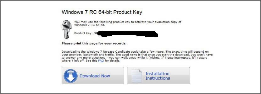 windows 7 rc product key