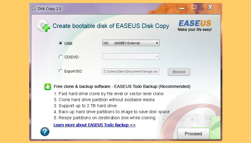 easus disk copy Norton Ghost Alternatives On Cloning Disk to Disk Image Of Windows