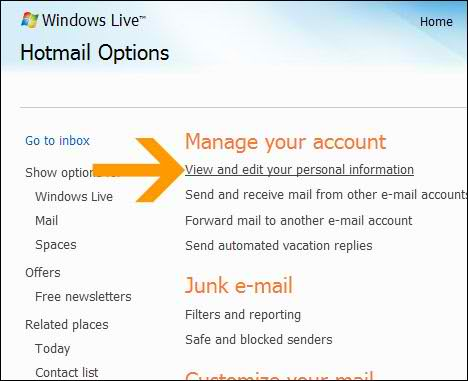 How to Change Hotmail or MSN Live Account Password