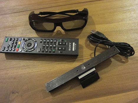 3D Glasses, Skype Camera and Remote Controller