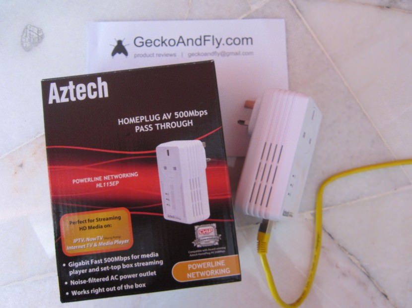 Aztech Homeplug AV 500Mbps HL115EP Diagram of the powerline networking technology
