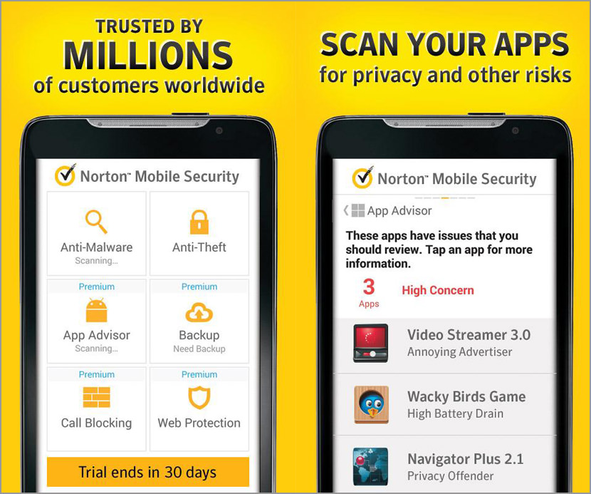 Download Norton Mobile Security one year license for free Free Anti-virus Protection for Google Android, Apple iOS iPhones, and iPads