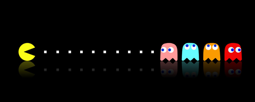 pacman Dual Screen Monitor HD Wallpaper