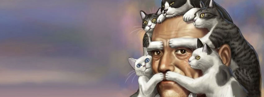 funny cats 4 facebook cover timeline banner for fb