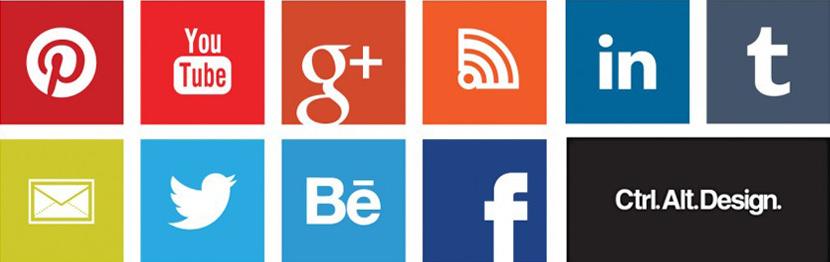 Modern Social Media buttons icons metro