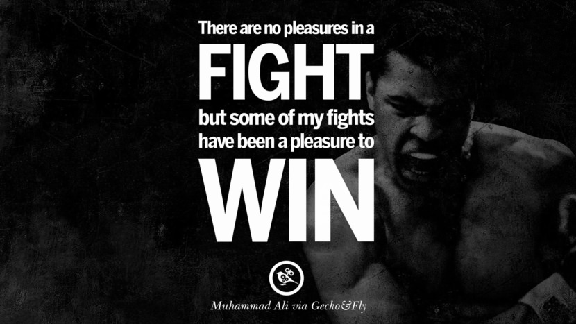 There are no pleasures in a fight but some of my fights have been a pleasure to win. - Muhammad Ali instagram twitter reddit pinterest tumblr facebook