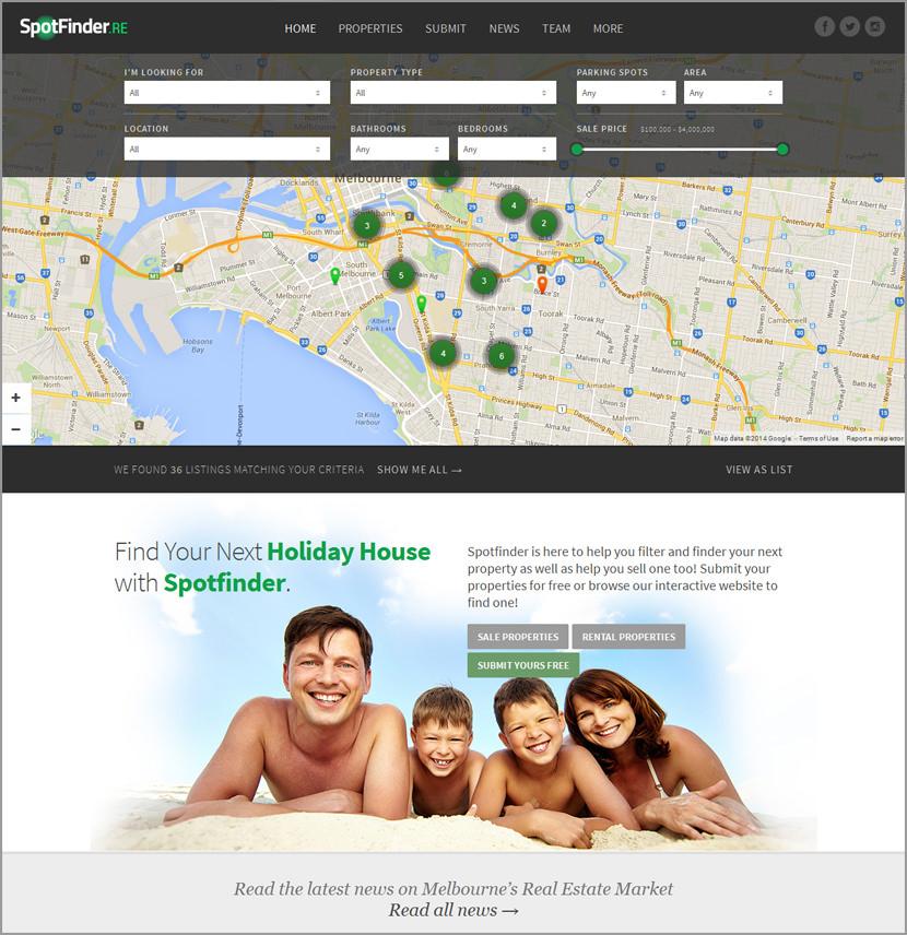 spot finder real estate wordpress
