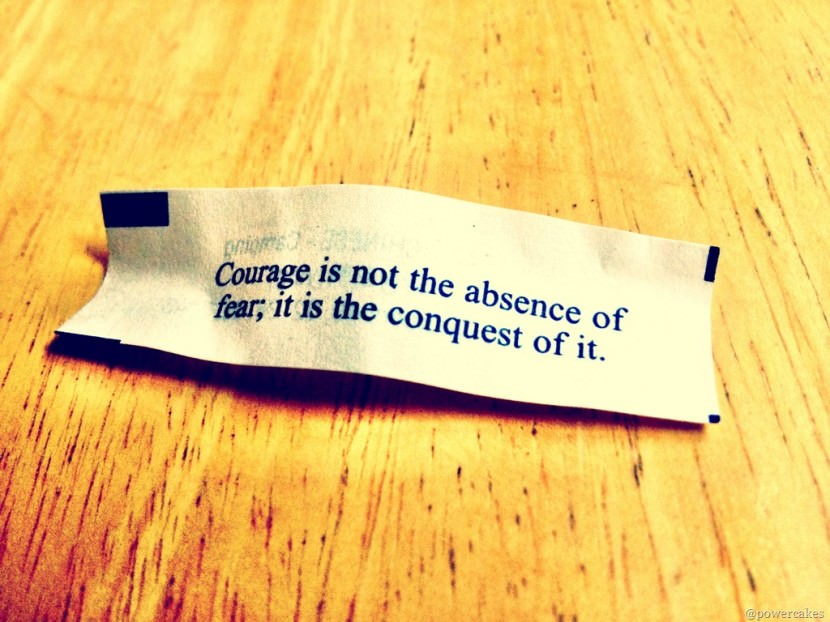 Courage is not the absence of fear; it is the conquest of it. Best Inspirational Chinese Japanese Fortune Cookie Quotes and Sayings On Life For Facebook And Tumblr