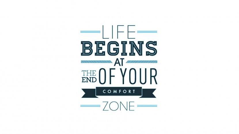 Life begins at the end of your comfort zone. – Neale Donald Walsch 35 Best Inspirational Quotes About Life By Famous People Typography Font Poster
