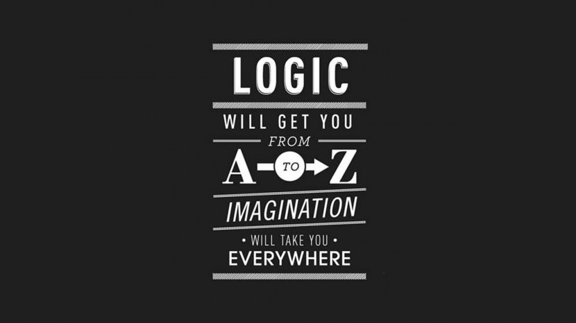 Logic will get you from A-Z. Imagination will take you everywhere. – Albert Einstein 35 Best Inspirational Quotes About Life By Famous People Typography Font Poster