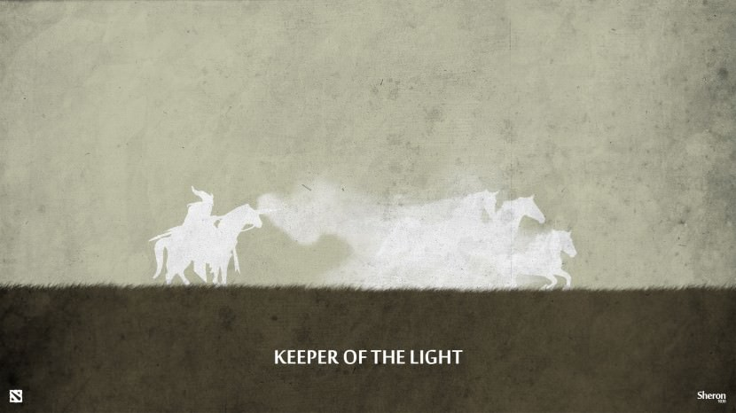 Keeper of Light download dota 2 heroes minimalist silhouette HD wallpaper
