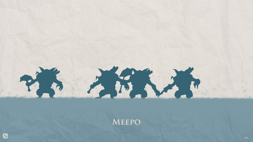 Meepo download dota 2 heroes minimalist silhouette HD wallpaper