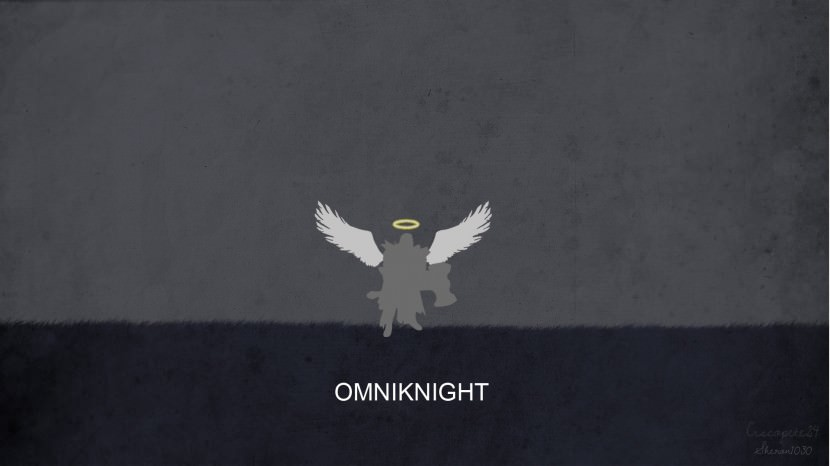 Omniknightd download dota 2 heroes minimalist silhouette HD wallpaper