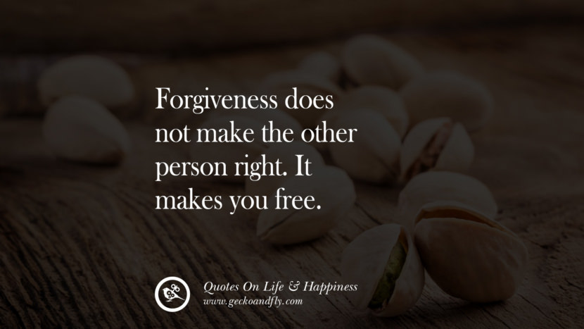 Forgiveness does not make the other person right. It makes you free. happy life quote instagram quotes about being happy with life and love twitter reddit facebook pinterest tumblr