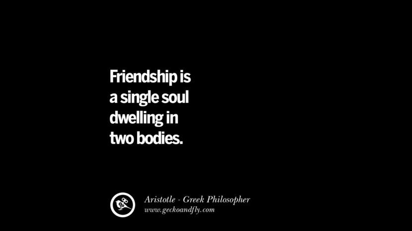 Friendship is a single soul dwelling in two bodies.