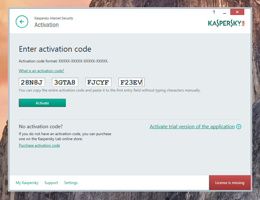 Kaspersky antivirus 2017 activated