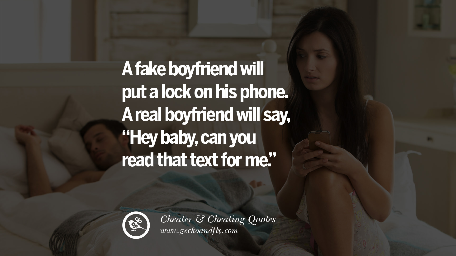 Cheating Wife On Phone With Husband