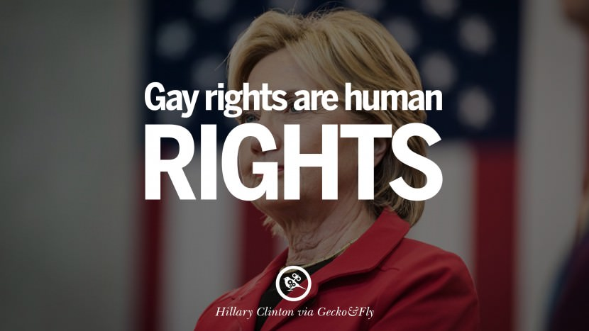 Gay rights are human rights. best facebook tumblr instagram pinterest inspiring Hillary Clinton Quotes On Gay Rights, Immigration, Women And Health