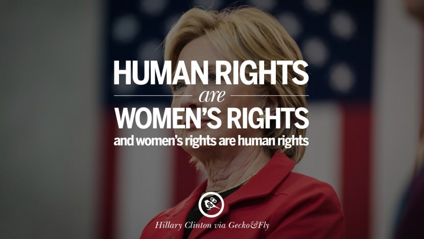 Human rights are women's rights and women's rights are human rights. best facebook tumblr instagram pinterest inspiring Hillary Clinton Quotes On Gay Rights, Immigration, Women And Health