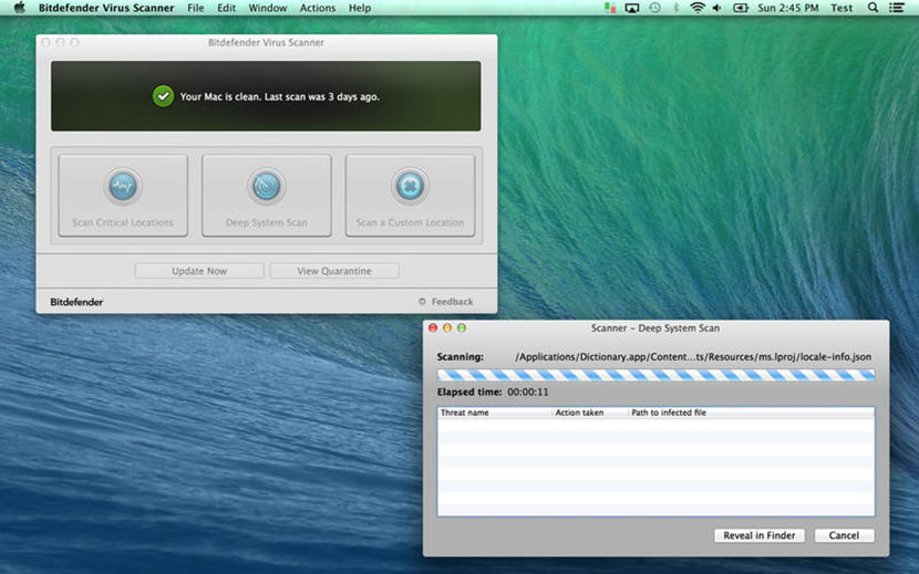 bitdefender virus scan Free Mac Antivirus For OS X El Capitan