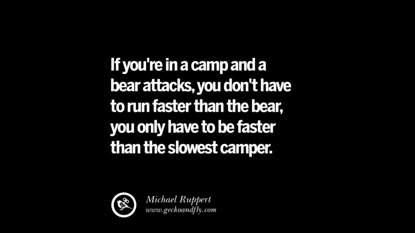 best quotes on financial management and investment banking  if you re in a camp and a bear attacks you don t