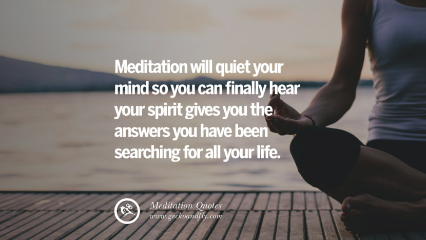 Meditation will quiet your mind so you can finally hear your spirit gives you the answers you have been searching for all your life. facebook instagram twitter tumblr pinterest poster wallpaper free guided mindfulness buddhist meditation for yoga sleeping relaxing