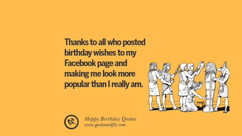 Thanks To All Who Posted Birthday Wishes My Facebook Page And Making Me Look More