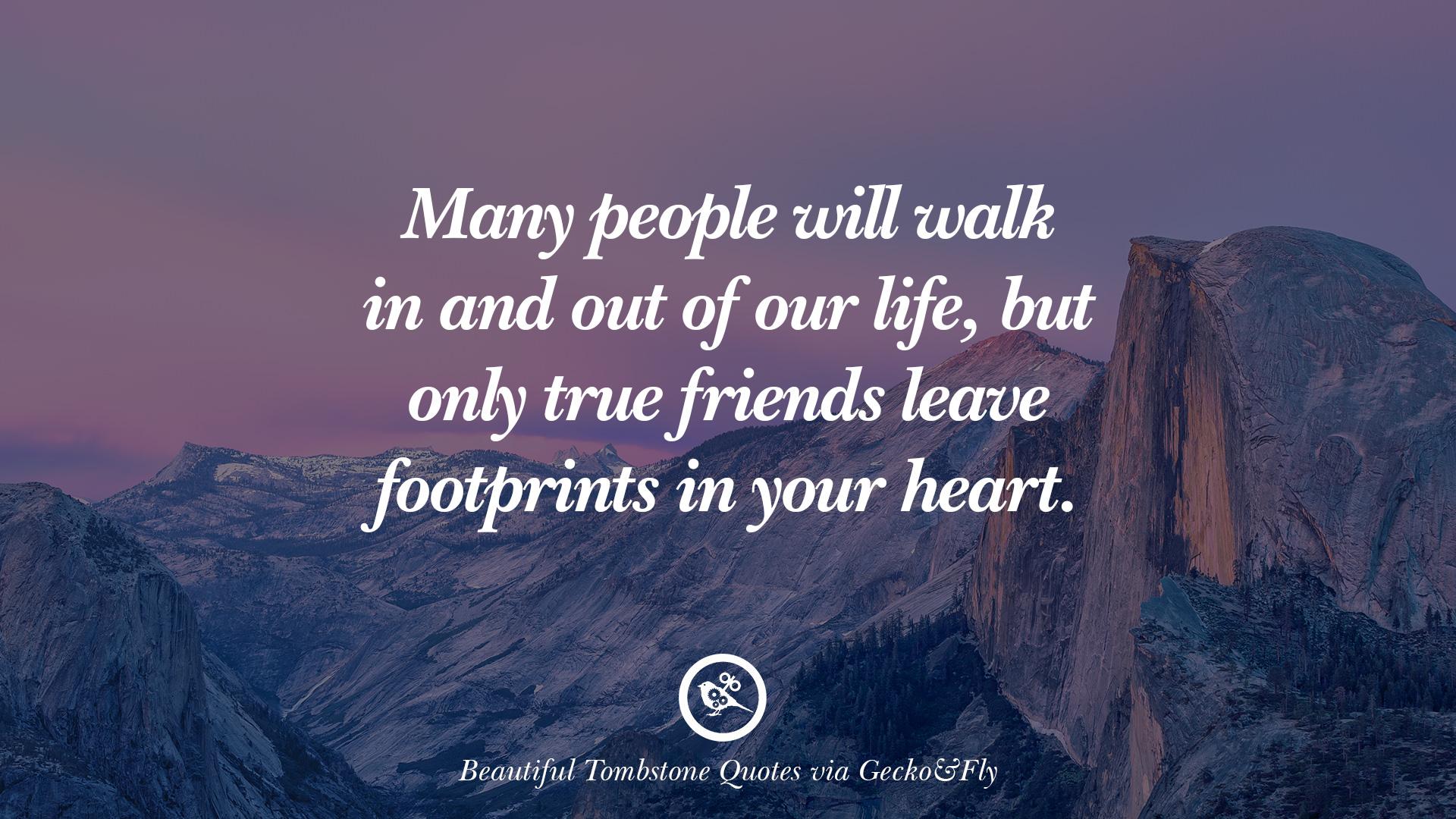Footprints saying