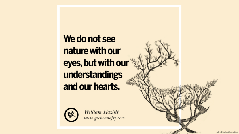 We do not see nature with our eyes, but with our understandings and our hearts. Beautiful Quotes About Saving Mother Nature And Earth
