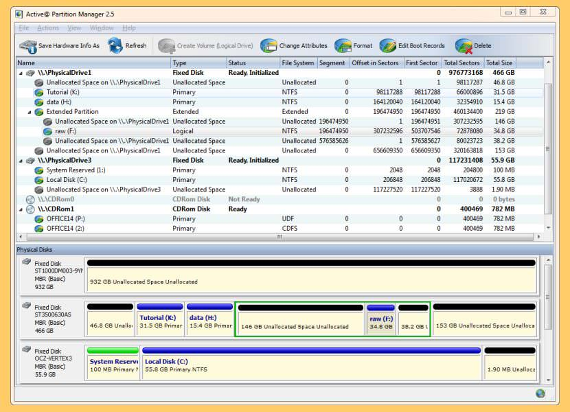 active partition manager Freeware For Re-partitioning A Hard Drive without Formatting The Disk