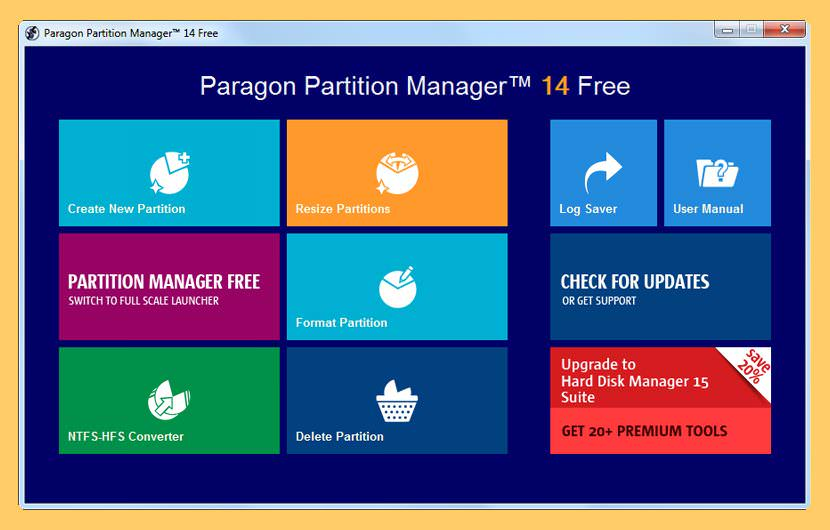 paragon partition manager Freeware For Re-partitioning A Hard Drive without Formatting The Disk