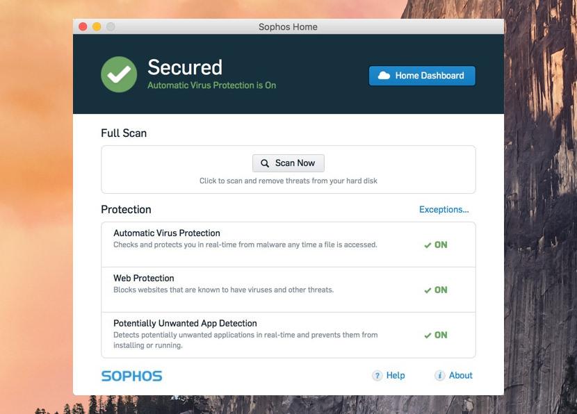 sophos home mac security free