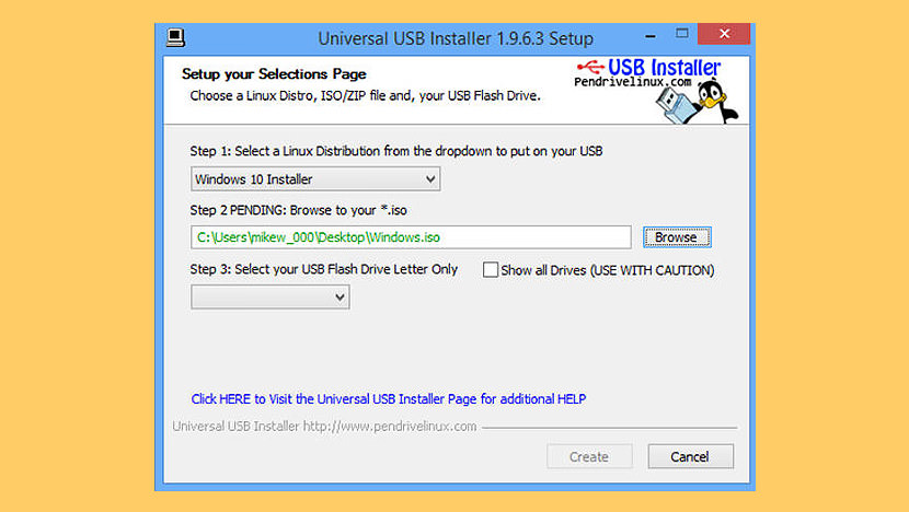 create windows 7 bootable usb drive on mac