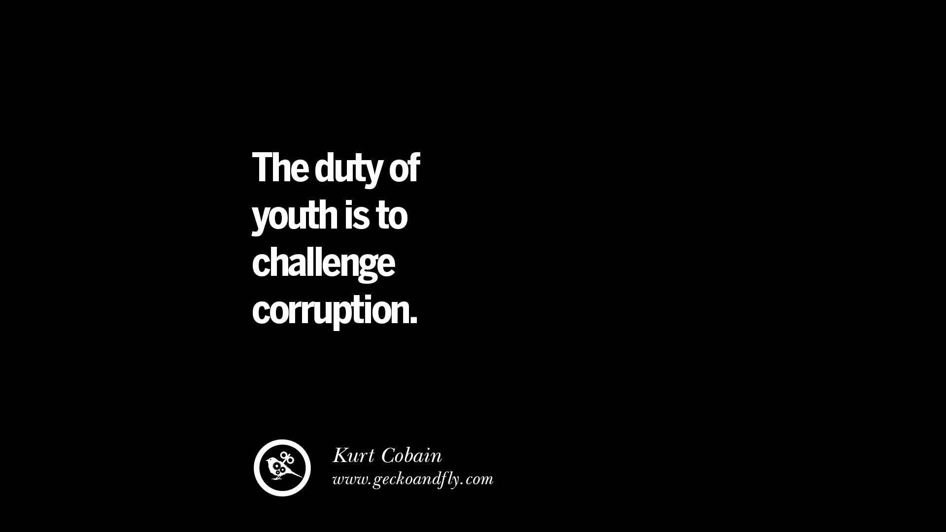 the duty of youth is to challenge corruption essay