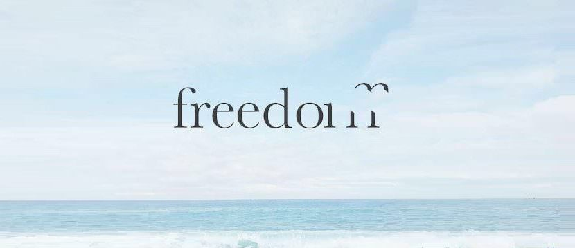 freedom text creative