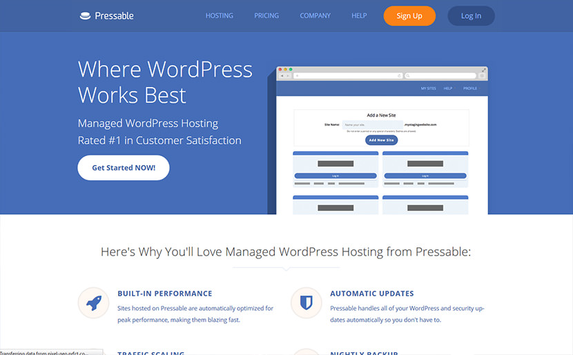 pressable best wordpress web hosting