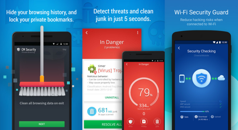 CM Security Free Android Antivirus - Stop Credit Card Theft And Safe Internet Banking