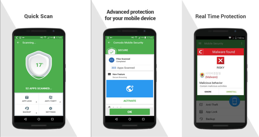Comodo Mobile Security Free Android Antivirus - Stop Credit Card Theft And Safe Internet Banking