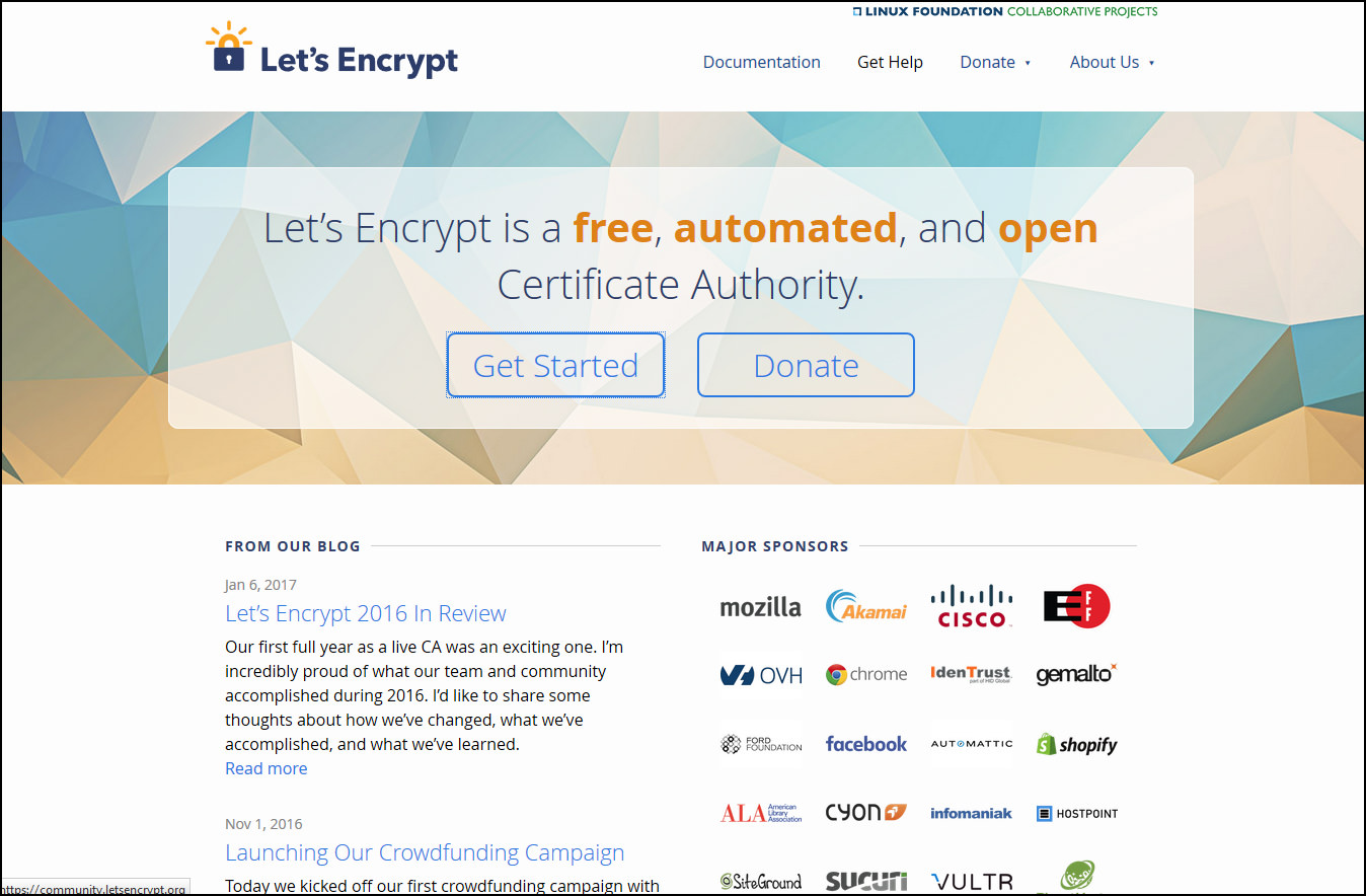 7 Free Trusted SSL Certificate Providers / Sources - 256 bit Domain