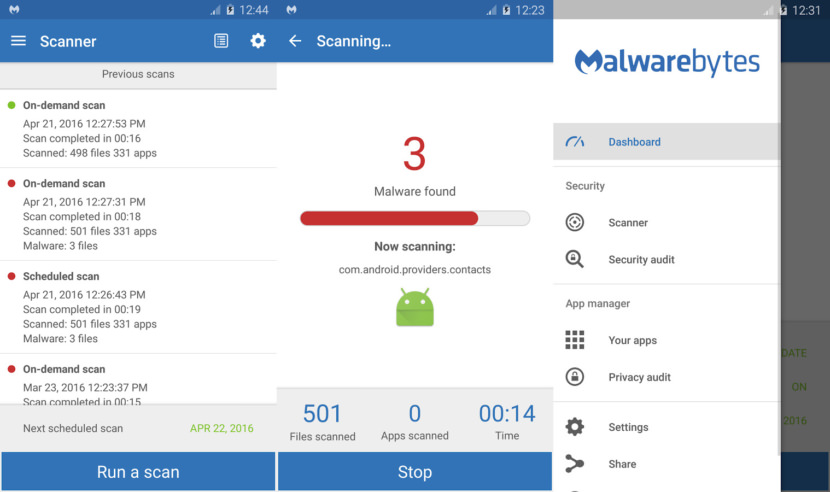 Malwarebytes Anti-Malware Free Android Antivirus - Stop Credit Card Theft And Safe Internet Banking