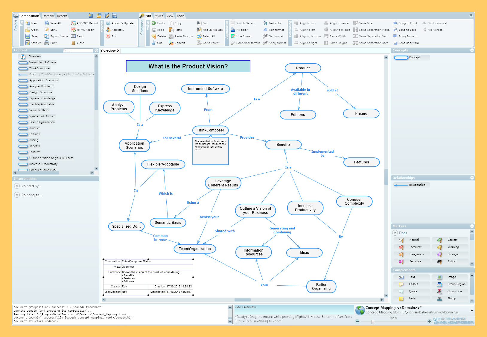 as a professional student or creative person you probably work analyzing creating and exposing entities with complex attributes relationships and - Concept Map Software Free