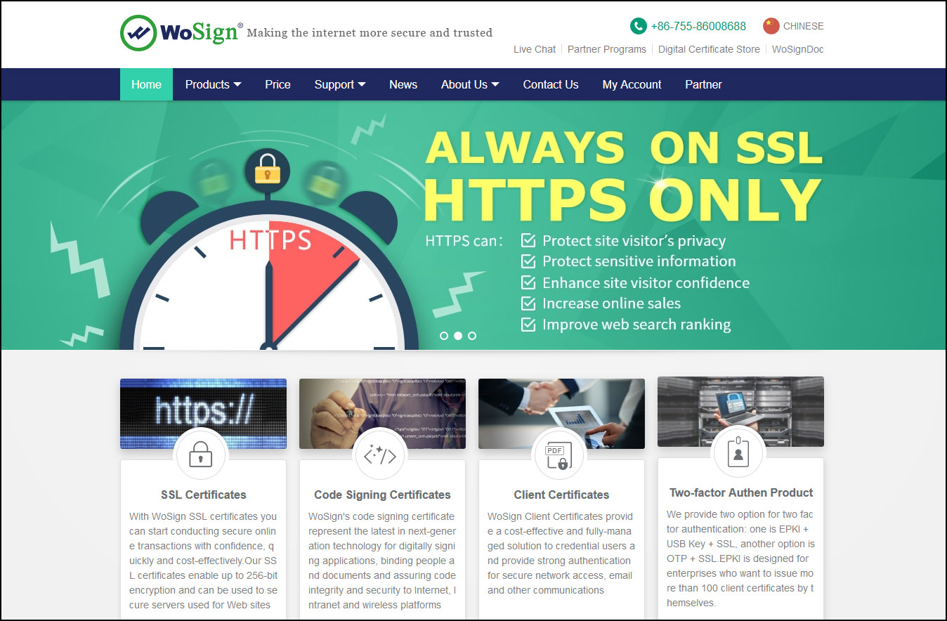 5 free trusted ssl certificate providers affordable 256 bit completely free fully functional as wosign dv ssl certificates wosign free ssl certificates gives you the perfect opportunity to secure your website at 1betcityfo Images