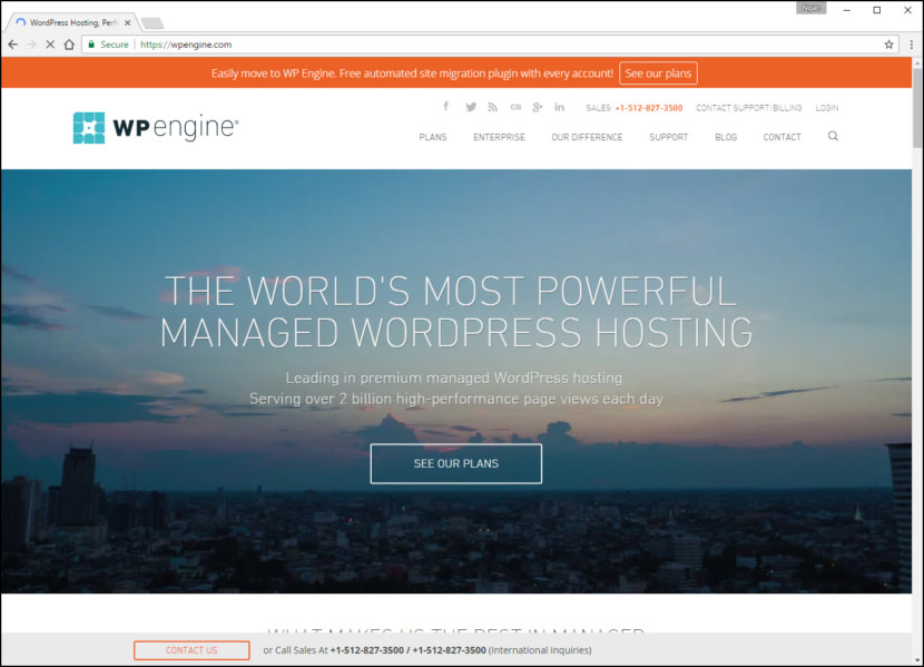 WP Engine Fastest WordPress Hosting With Varnish Cache, CDN & Daily Backup