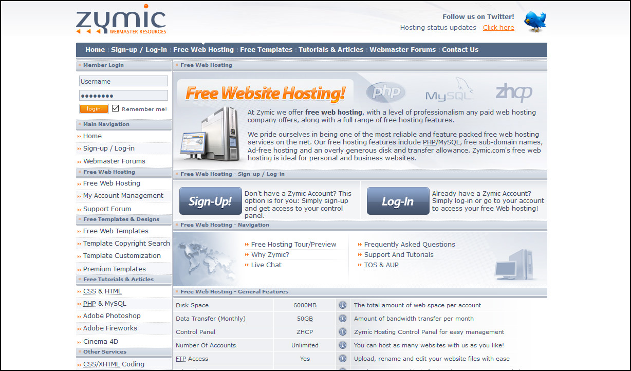 Free web hosting no banner - At Zymic We Offer Free Web Hosting With A Level Of Professionalism Any Paid Web Hosting Company Offers Along With A Full Range Of Free Hosting Features