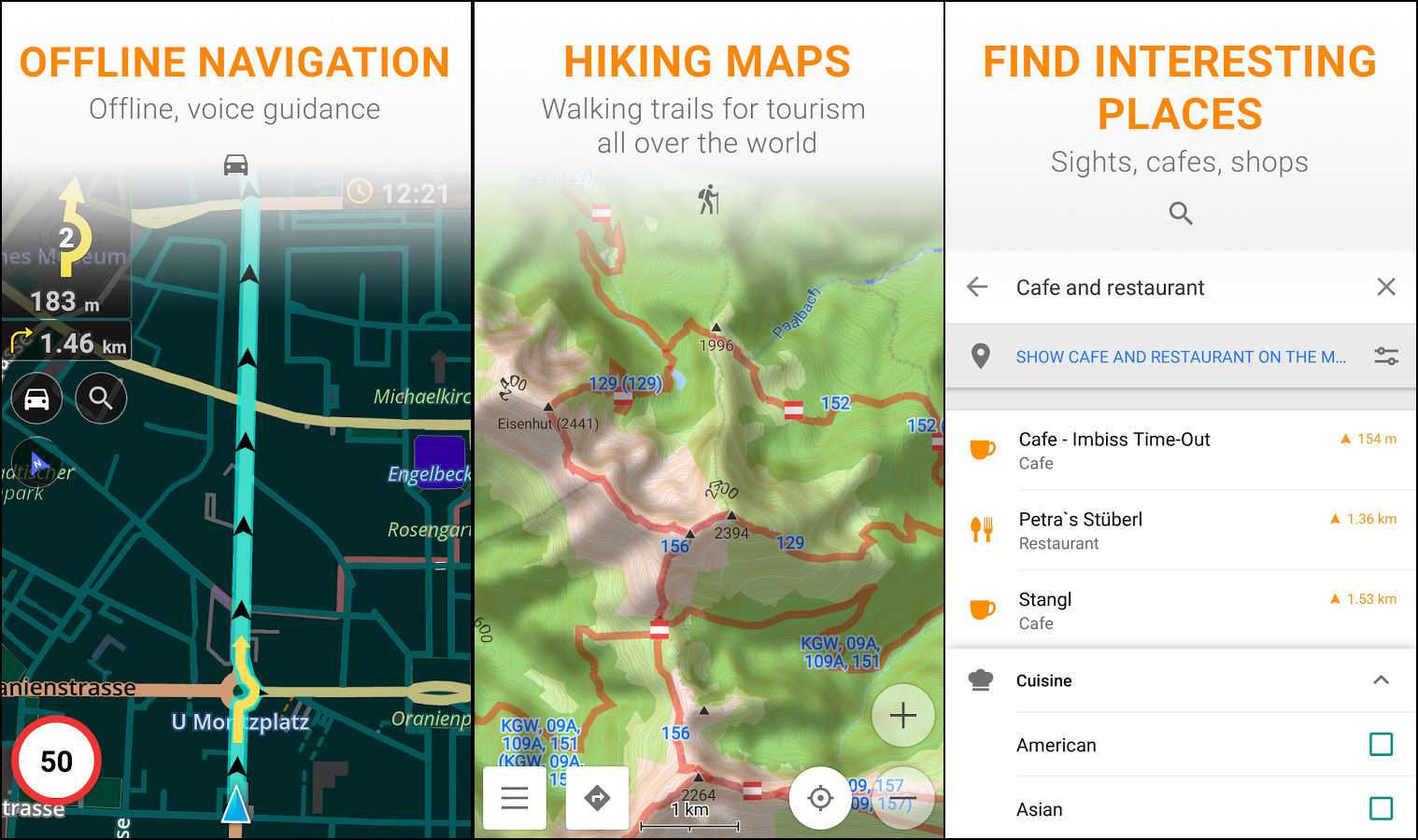 5 free offline maps for android and ios without internet or data osmand maps is a map application with access to the free worldwide and high quality openstreetmap osm data all map data can be stored on your devices gumiabroncs Gallery